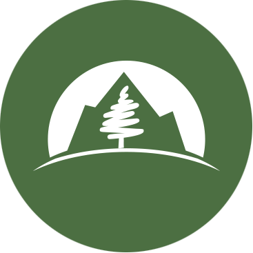 Headshot Placeholder with Pine Logo Mark on Green Background